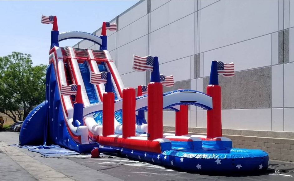 Patriotic American Water Slide Rental Chicago IL